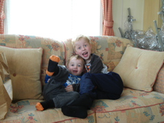 Brothers staying at Crowhurst Park